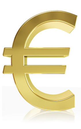 currency symbol: Very high quality rendering (>20h )of the currency symbol euro