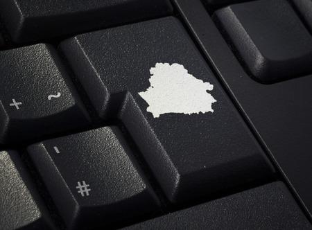 Return key in the shape of Belarus.(series) photo