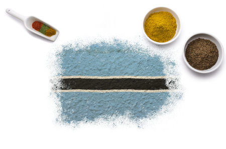 botswanan: Various spices forming the flag of Botswana.(series)