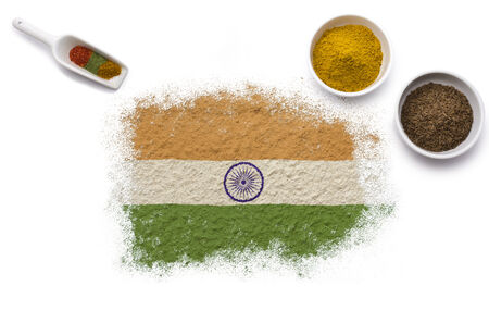 indian mustard: Various spices forming the flag of India.(series)