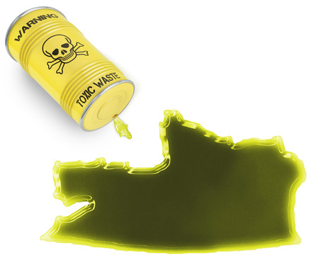 russian federation: Glossy spill of a toxic substance in the shape of Russian Federation (series) Stock Photo