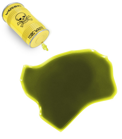 Glossy spill of a toxic substance in the shape of Guinea-Bissau (series) photo