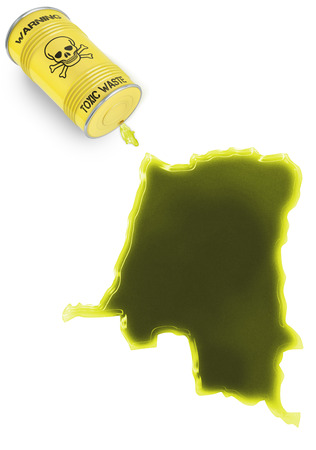 Glossy spill of a toxic substance in the shape of Zaire (series) photo