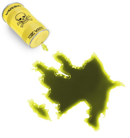 Glossy spill of a toxic substance in the shape of Azerbaijan (series) photo