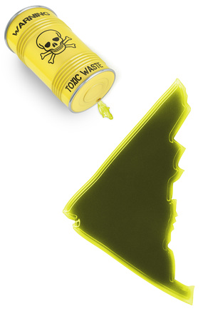 Glossy spill of a toxic substance in the shape of Yukon (series) photo
