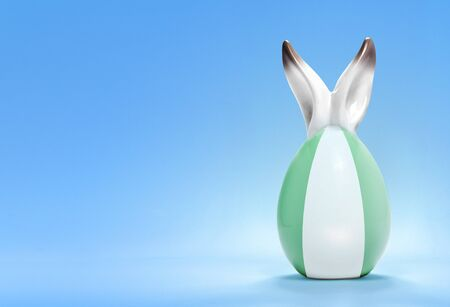 rabbit ears: Colorful cute ceramic easter egg with rabbit ears and the flag of Nigeria .(series)