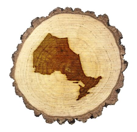 BRANDED: A slice of oak and the shape of Ontario branded onto