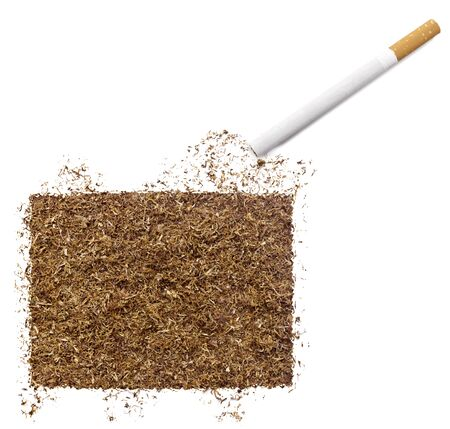 ciggy: The country shape of Colorado made of tobacco and a cigarette.(series)