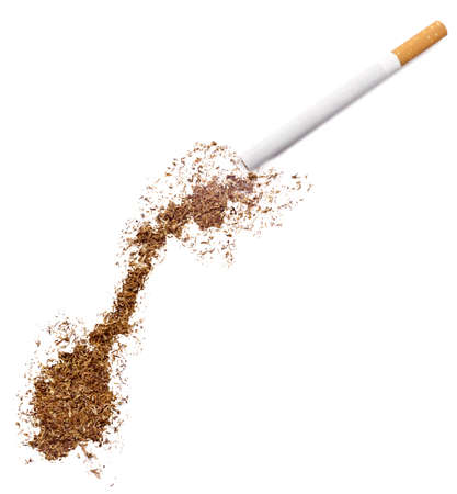 ciggy: The country shape of Norway made of tobacco and a cigarette.(series)