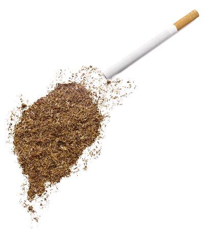 principe: La forma país de Santo Tomé y Príncipe por tabaco y un cigarrillo. (Serie)