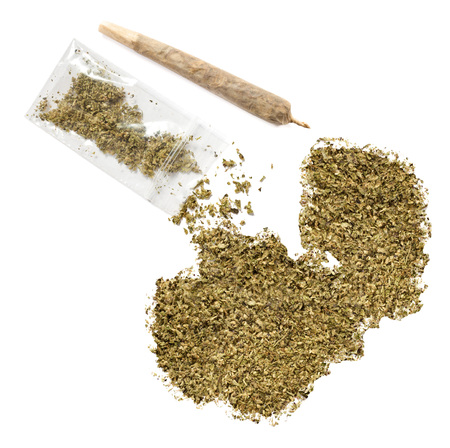grinded: Grinded weed shaped as Zambia and a joint.(series)