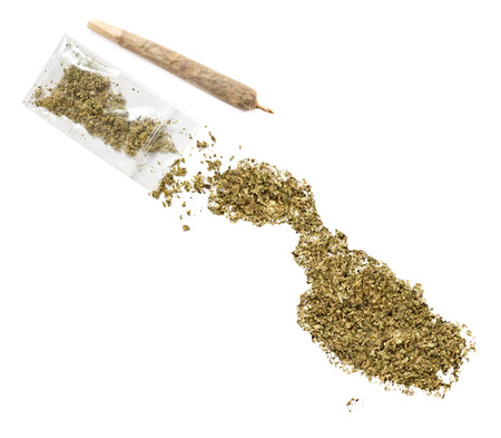 grinded: Grinded weed shaped as Malta and a joint.(series)
