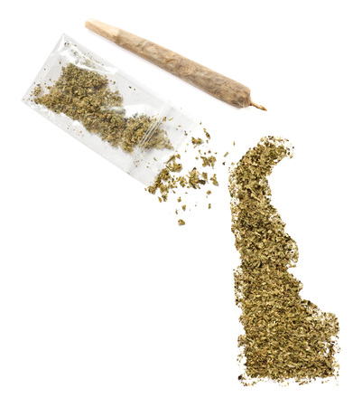 grinded: Grinded weed shaped as Delaware and a joint.(series)