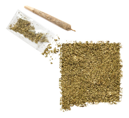 grinded: Grinded weed shaped as New Mexico and a joint.(series)