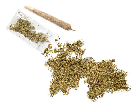 grinded: Grinded weed shaped as Tajikistan and a joint.(series)