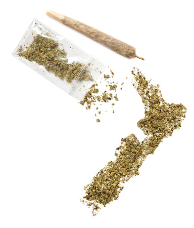 grinded: Grinded weed shaped as New Zealand and a joint.(series)