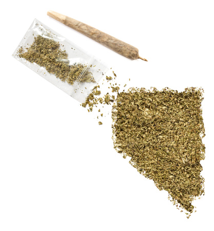 grinded: Grinded weed shaped as Nevada and a joint.(series)