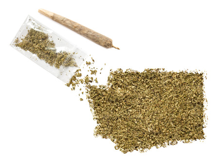 grinded: Grinded weed shaped as Washington and a joint.(series)