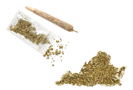 grinded: Grinded weed shaped as Virginia and a joint.(series)