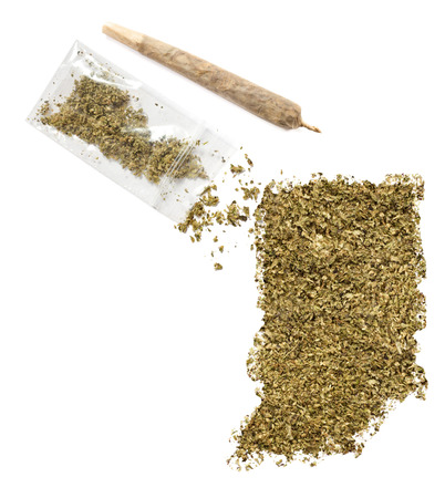 grinded: Grinded weed shaped as Indiana and a joint.(series)