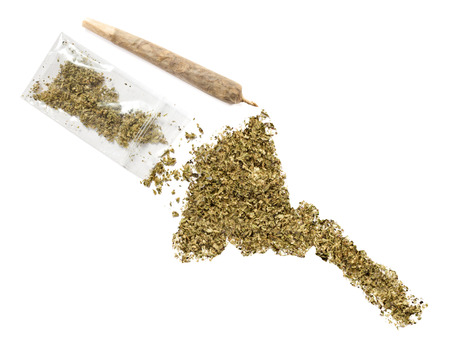 grinded: Grinded weed shaped as Eritrea and a joint.(series) Stock Photo