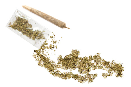 grinded: Grinded weed shaped as Indonesia and a joint.(series)