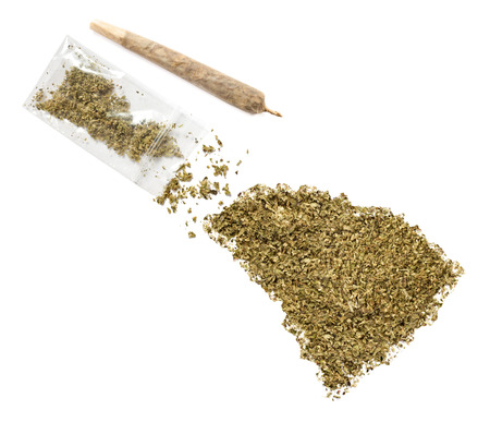 grinded: Grinded weed shaped as South Carolina and a joint.(series)