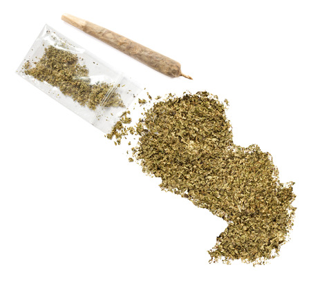 grinded: Grinded weed shaped as Paraguay and a joint.(series)