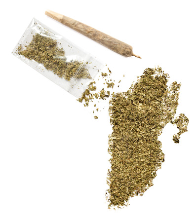grinded: Grinded weed shaped as Belize and a joint.(series)