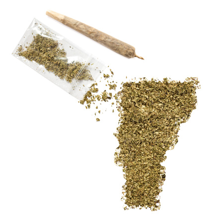 grinded: Grinded weed shaped as Vermont and a joint.(series)
