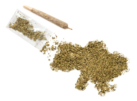 grinded: Grinded weed shaped as Ukraine and a joint.(series)
