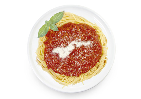 Freshly cooked dish of tasty pasta with tomato sauce and parmesan cheese in the shape of American Samoa .(series)