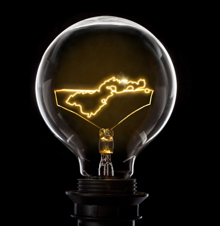 Clean and shiny lightbulb with American Samoa as a glowing wire.(series)