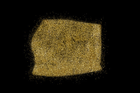 Equatorial Guinea shaped from golden glitter on a black background (series)