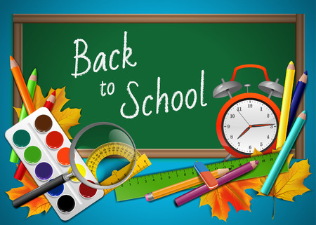 Back to school - vector background Vector
