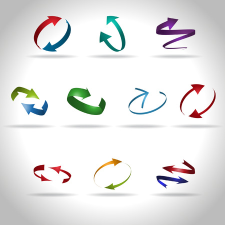 Vector pijl icon set Stock Illustratie