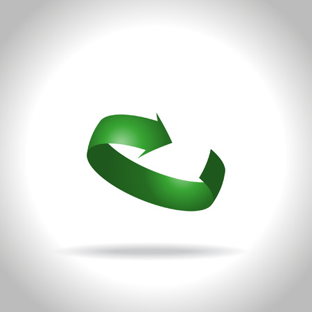 Vector green arrow icon Ilustrace
