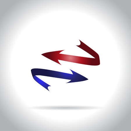 red arrows: Blue and red arrows icon
