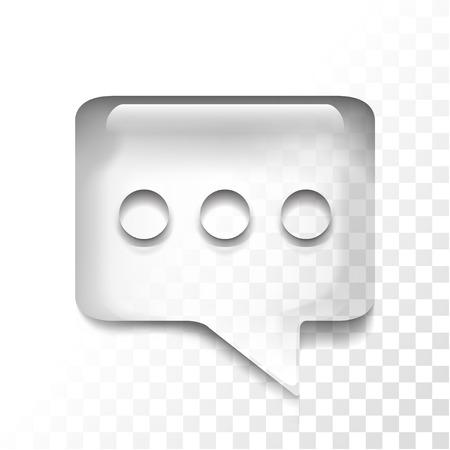 Transparent message icon
