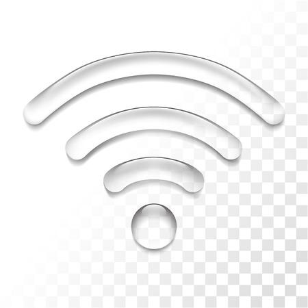 Wireless connection transparent icon Stock Illustratie