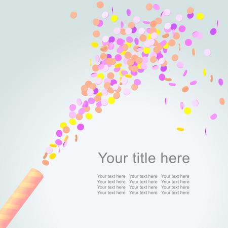confetti: Festive background with colorful confetti