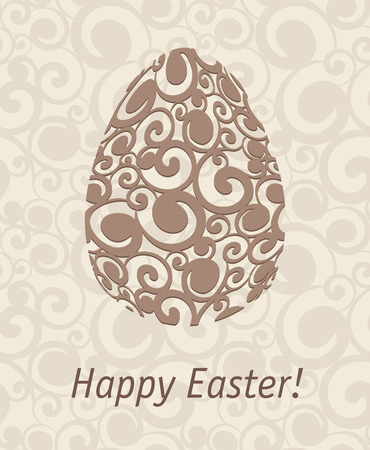 lent: Easter egg on abstract background