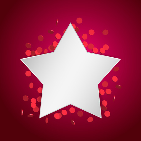 festive background: Festive celebration background with star and confetti