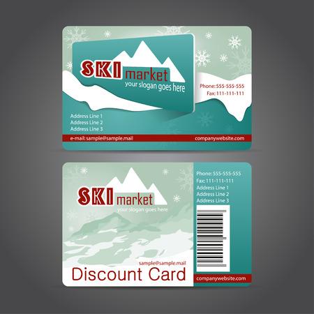 plantilla para tarjetas: Invierno plantilla de tarjeta de descuento