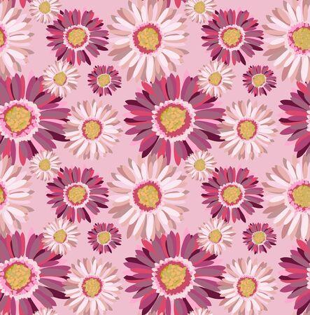 gerbera: Beautiful seamless floral pattern, gerbera illustration