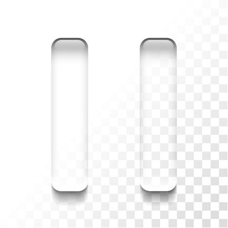 Transparent pause icon