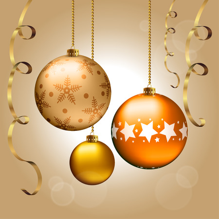 color balls: Background with Christmas balls and ribbons