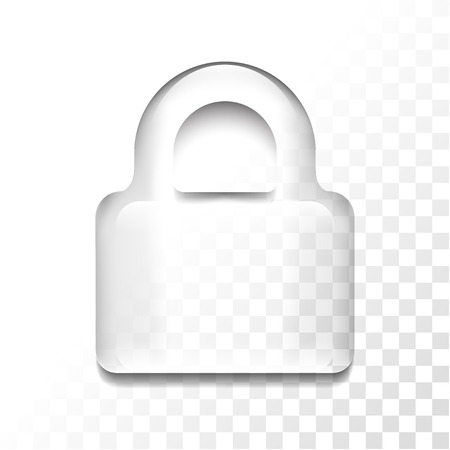 Transparent locker icon Ilustrace