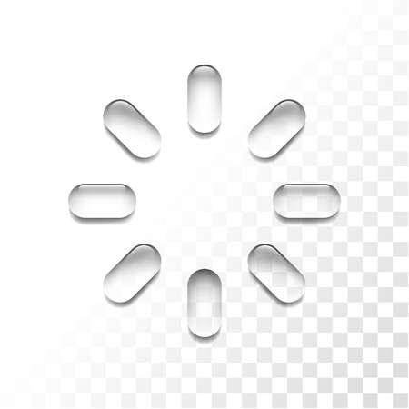 Transparent loading icon