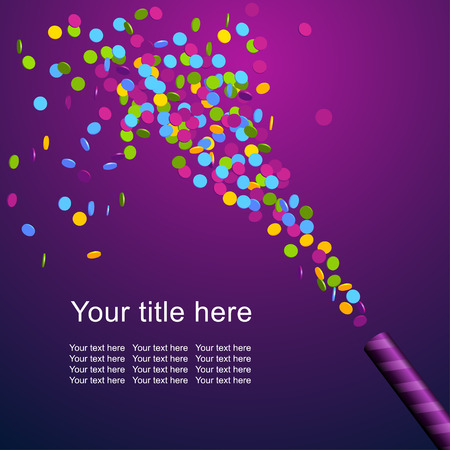 gift background: Festive background with colorful confetti